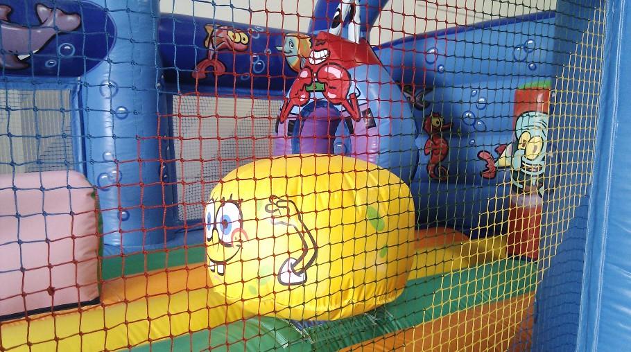 Castillo Hinchable Bob en el Fondo del Mar